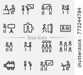 set of business meeting vector... | Shutterstock .eps vector #773244784