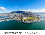 Small photo of Aerial view of Cape Town, South Africa on a sunny afternoon