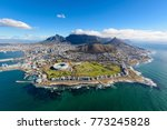 aerial view of cape town  south ... | Shutterstock . vector #773245828