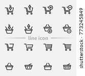 set of shopping cart and basket ... | Shutterstock .eps vector #773245849