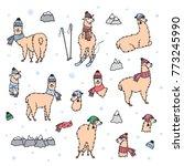 vector set of characters.... | Shutterstock .eps vector #773245990