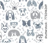 vector seamless pattern with... | Shutterstock .eps vector #773246269