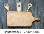 old retro vitnage empty cutting ... | Shutterstock . vector #773247208