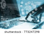artificial intelligence ai ... | Shutterstock . vector #773247298