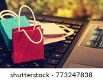 business concept online... | Shutterstock . vector #773247838