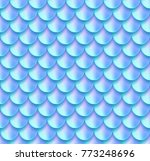holographic mermaid tail foil... | Shutterstock .eps vector #773248696