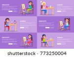 creativity and science template ... | Shutterstock .eps vector #773250004