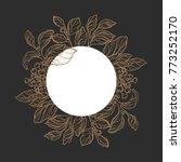 template of golden mate... | Shutterstock . vector #773252170