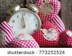 time for love concept with... | Shutterstock . vector #773252524