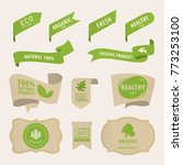 organic natural label and tag... | Shutterstock .eps vector #773253100
