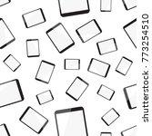 tablet computer seamless... | Shutterstock .eps vector #773254510