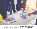 customer and constructor... | Shutterstock . vector #773254708