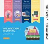 web maintenance infographic | Shutterstock .eps vector #773258488