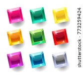 set of cartoon square different ... | Shutterstock .eps vector #773259424