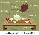 illustration of traditional... | Shutterstock . vector #773260813