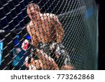mma boxers fighters fight in... | Shutterstock . vector #773262868