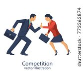 competition concept. business... | Shutterstock .eps vector #773262874