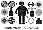 set of targets shoot gun aim... | Shutterstock .eps vector #773264068