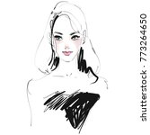 girl portrait fashion...   Shutterstock .eps vector #773264650