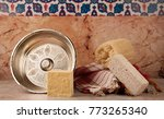 turkish bath and bath materials | Shutterstock . vector #773265340