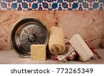 turkish bath and bath materials | Shutterstock . vector #773265349