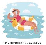 vector cartoon illustration of... | Shutterstock .eps vector #773266633