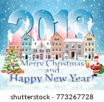 happy new year and merry... | Shutterstock .eps vector #773267728