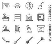 thin line icon set   shop... | Shutterstock .eps vector #773268310