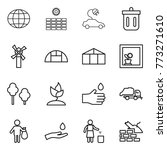 thin line icon set   globe  sun ... | Shutterstock .eps vector #773271610