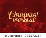 merry fitness christmas | Shutterstock . vector #773273194