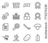 thin line icon set   diagram ... | Shutterstock .eps vector #773274130