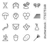 thin line icon set   dna  barn  ...   Shutterstock .eps vector #773275168