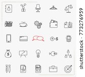 business line icons set | Shutterstock .eps vector #773276959