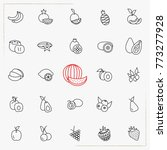 berries and fruits line icons...   Shutterstock .eps vector #773277928