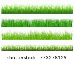 large set of fresh green spring ... | Shutterstock .eps vector #773278129