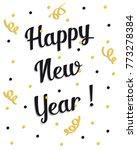 2018 happy new year | Shutterstock .eps vector #773278384