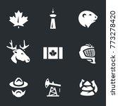 canada symbols icons. | Shutterstock . vector #773278420