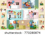 people and social network... | Shutterstock .eps vector #773280874