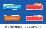 christmas big sale glossy empty ... | Shutterstock .eps vector #773284144