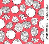 black and white pattern of...   Shutterstock .eps vector #773284360