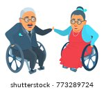 elderly age couple  man and... | Shutterstock .eps vector #773289724