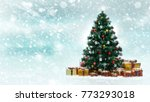 beautiful decorated christmas...   Shutterstock . vector #773293018