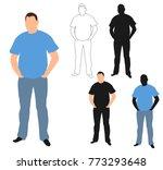 silhouette man standing | Shutterstock .eps vector #773293648