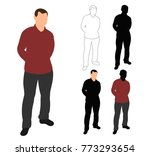 vector isolated silhouette man  ... | Shutterstock .eps vector #773293654