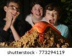 teenage kids make chemical... | Shutterstock . vector #773294119
