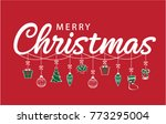 merry christmas greeting card... | Shutterstock .eps vector #773295004