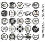 retro vintage badges vector... | Shutterstock .eps vector #773295304