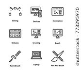 design thin line icon | Shutterstock .eps vector #773295970