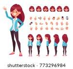 pretty girl for animation.... | Shutterstock .eps vector #773296984