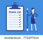 giant check list. young... | Shutterstock .eps vector #773297014